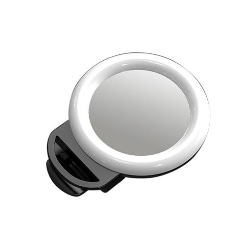 Mini RGB Smartphone Selfie Ringlicht LED-Beauty-Licht zum Aufstecken
