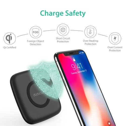 dodocool 10W Ultra Slim Micro Fast Charge Wireless Charger Charging Pad with 3.3ft Micro Cable