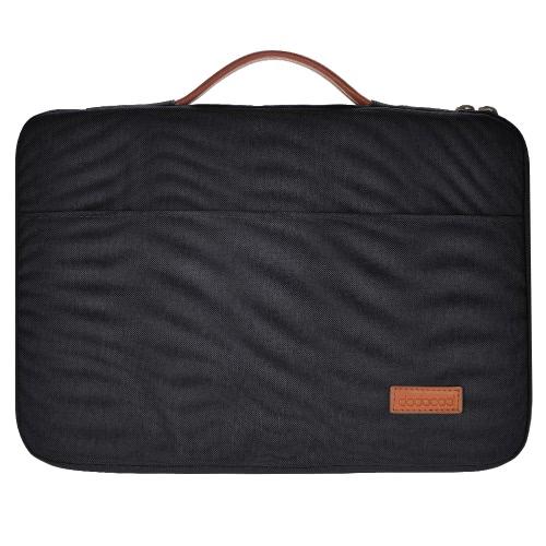 アップル13用PUレザーハンドルと13から13.3インチのラップトップナイロンジッパースリーブのUltrabookキャリングケースノートブック保護袋カバーをdodocool「MacBook Proの/ 13