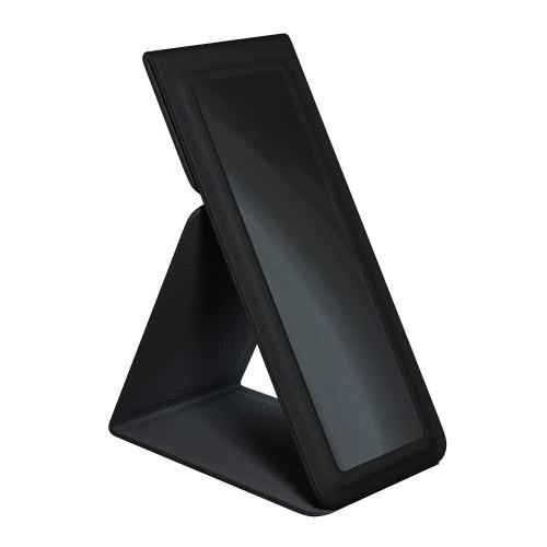 dodocool 2-en-1 Portable Universal adhésif PU pliant en cuir pour téléphones Supports Support de bureau main prise pour les doigts pour iPhone Samsung LG HTC Smartphone Réutilisable Noir