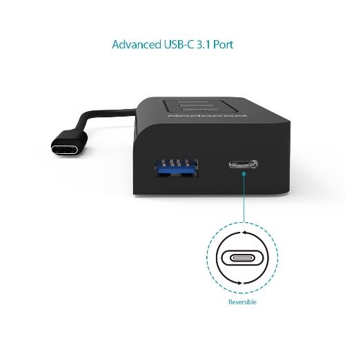 USB-C to SuperSpeed 4-Port USB 3.0 Hub
