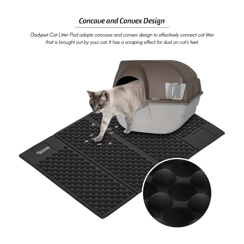 Dadypet Pet Cat Dog Litter Pad Folding EVA Waterproof Cat Litter Pad Vehicle-mounted Home Use Unfolded Size 72.5cm * 46.8cm