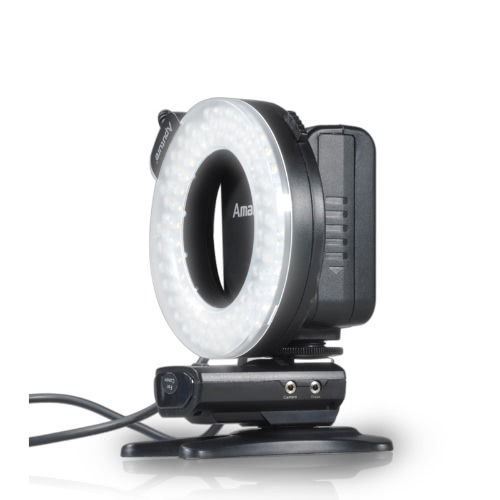 Aputure Amaran Halo HN100 CRI 95+ Pierścień LED Flash Light dla Nikon D7100 D7000 D5200 D5100 D800 D700 D600 D800E Aparat D90