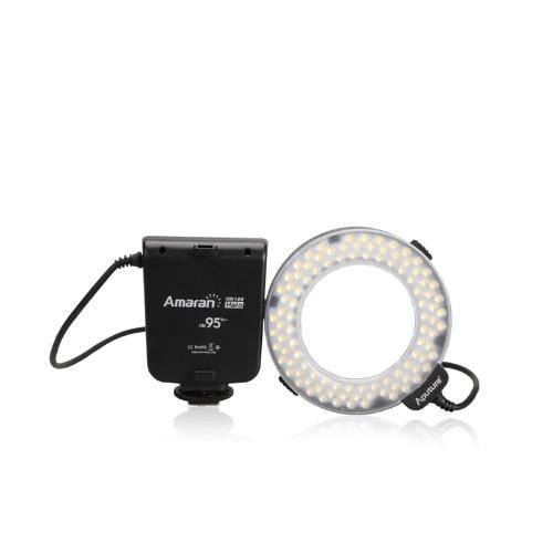 Aputure Amaran Halo HN100 CRI 95+ LEDリングフラッシュライト(Nikon D7100用)D7000 D5200 D5100 D800E D800 D700 D600 D90カメラ用