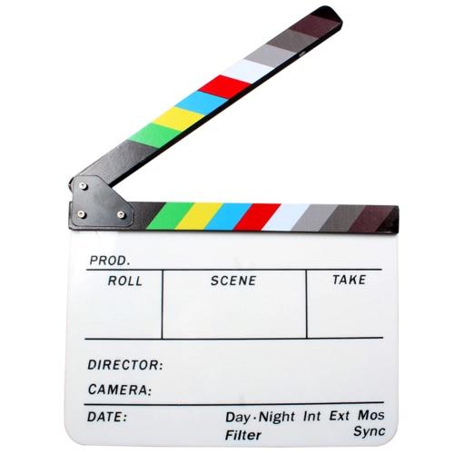 Acrylic Dry Erase Director Film Clapper Board Slate 9.6 * 11.7