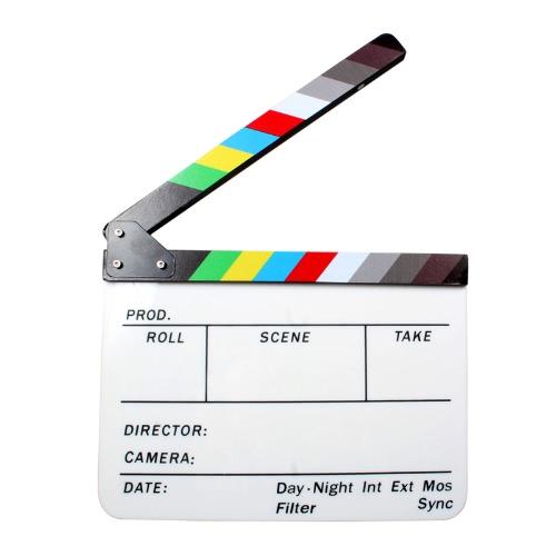 Akryl Clapboard Dry Erase Reżyser filmu grzechotka Zarząd Slate 9,6 * 11,7
