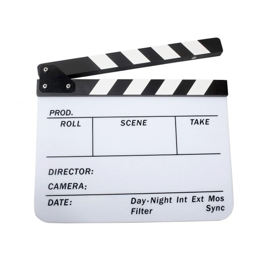 Colle acrylique planches effaçables à sec film Film Director Clapper Board ardoise 9,6 * 11,7