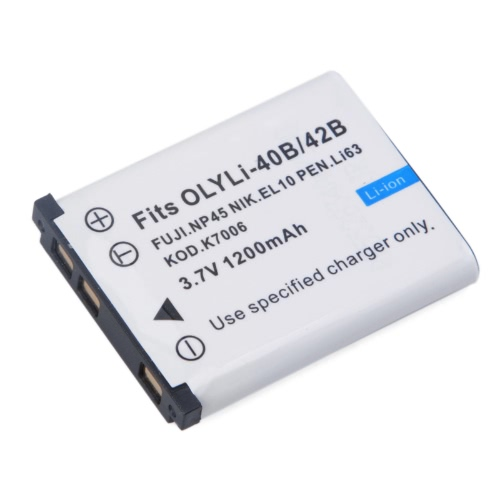 1200 mah Li-40 b/42B バッテリー オリンパス李-42B/ペンタックス D-Li63/富士 NP-45/en-el10 + 詳細を見る