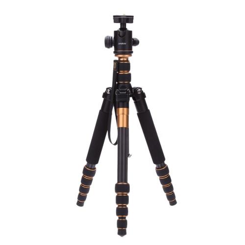一眼レフ カメラ ボール頭脚変更可能なポータブル旅行用 Andoer Pro の炭素繊維の三脚