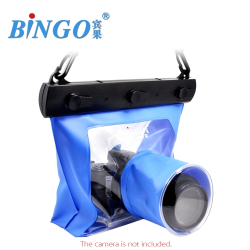 Bingo 20M Waterproof Bag Underwater Housing Case Pouch for Canon Nikon Sony DSLR SLR Camera Blue