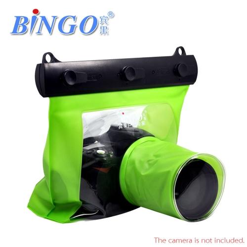 Bingo 20M Waterproof Bag Underwater Housing Case Pouch for Canon Nikon Sony DSLR SLR Camera Green