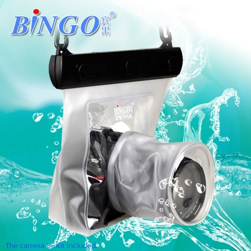 Bingo 20M Waterproof Bag Underwater Housing Case Pouch for Canon Nikon Sony DSLR SLR Camera White