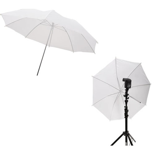 33in / 83cm Pparapluie Souple Studio Photo Blanc Translucide pour Flash de Studio