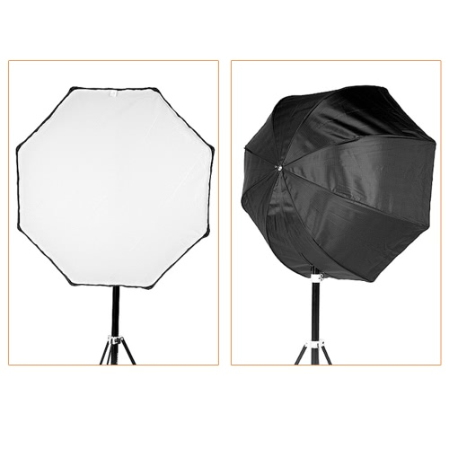 Professionelle 80cm / 31.5in Octagon Schirm-Softbox Brolly Reflektor für Speedlite