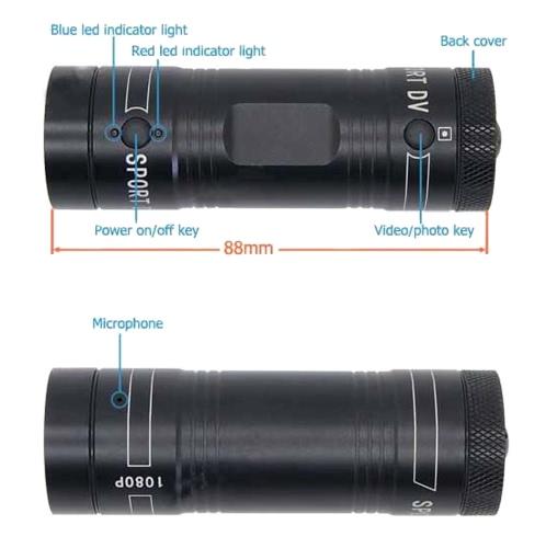 Mini F9 5MP HD 1080P H.264 Waterproof Sports DV Camera