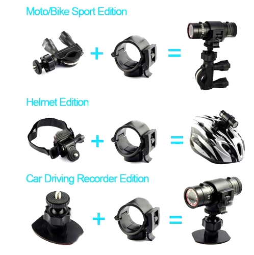 Andoer Mini Helmet Camera Bike Cycle Camera 1080P Full HD Waterproof Cycling Sports Camcorder DV - 3min Loop Recording