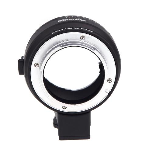 Bague d'adaptation NF-NEX avec Aperture Dial pour Nikon G / DX / F / AI / S / D Type d'objectif à Sony E-Mount caméra NEX-NF pour Sony NEX A7 / A7R NEX-3/5 / 5N / 7 / 7N