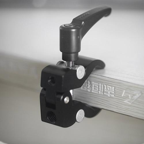 Magico Braccio d'attrito di Fotocamera Piccolo Super Morsetto Pinze di Granchio Clip di piccole dimensioni 4,9cm Morso Nero