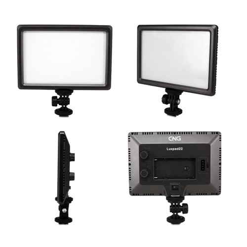Luxpad22 Pro Ultra Thin 112-LED 11W Video Light Pad for Canon Nikon DSLR Camera DV Camcorder