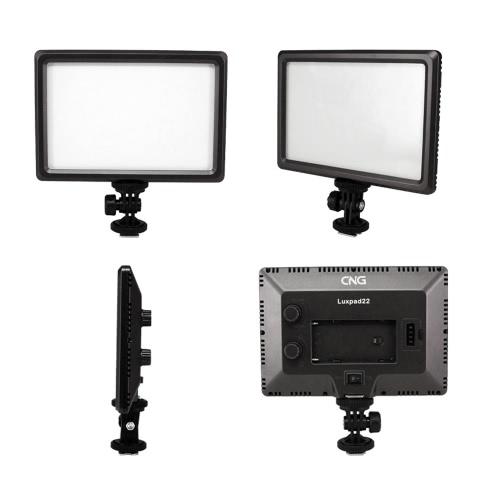 Luxpad22 Pro Ultra Thin 112-LED 11W Lampa wideo Pad do Canon Nikon DSLR Camera DV Camcorder