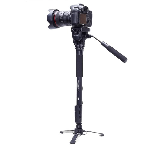 Yunteng VCT-288 Photography Tripod Monopod & Fluid Pan Head & Unipod Holder for Canon Nikon Camera