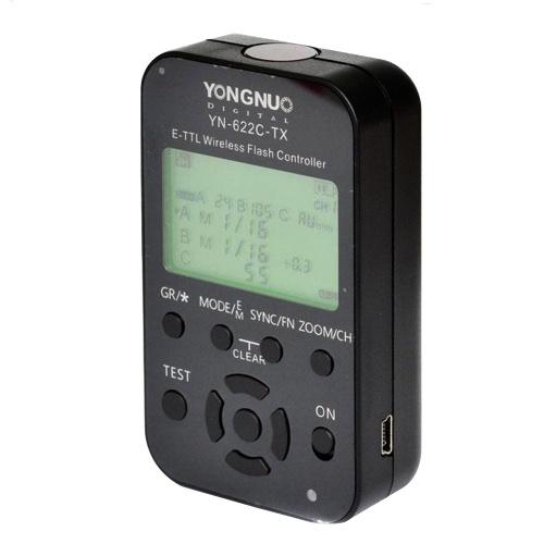 Émetteur flash LCD YONGNUO YN-622C-TX d'occasion pour déclencheur YN-622C pour appareil photo Canon DSLR