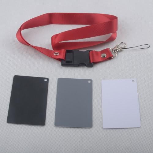 3 in 1 tasca Dimensioni Bianco Bianco Nero Grigio Carta 18% Grey Card