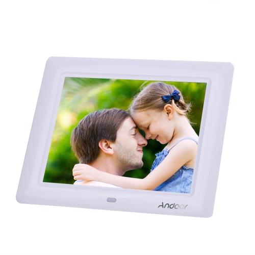 8'' HD TFT-LCD Digital Photo Frame Clock MP3 MP4 Movie Player with Remote  Desktop - Andoer com
