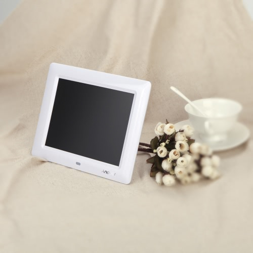 8''  HD TFT-LCD Digital Photo Frame Clock MP3 MP4 Movie Player with Remote Desktop
