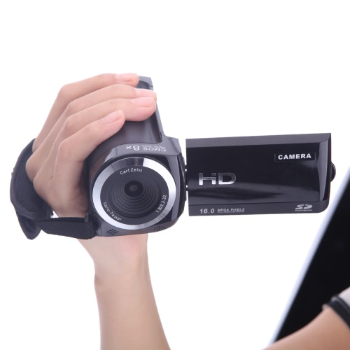 720P Digital Video Camcorder Full HD 16MP 8x digital Zoom DV Camera Kit HDV-802S Black