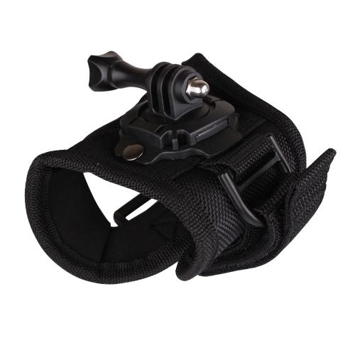 Andoer 360 stopni Rotation Rękawice w stylu pasma Pasek na ramię Akcesoria do GoPro Hero 4/3 + / 3/2/1 Kamera Duża