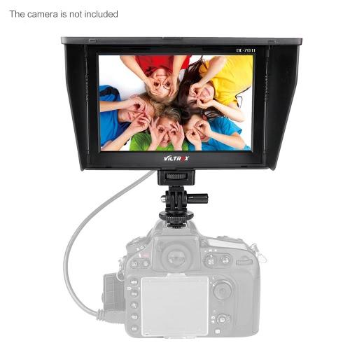 Viltrox DC-70II 1024 * 600 7'' Clip-on Color TFT LCD HD Monitor HD AV Input for DSLR Camera Camcorder