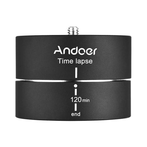 Andoer 360°120分回転回転三脚タイムラプススタビライザ三脚アダプタGopro ILDC Mobilephone用
