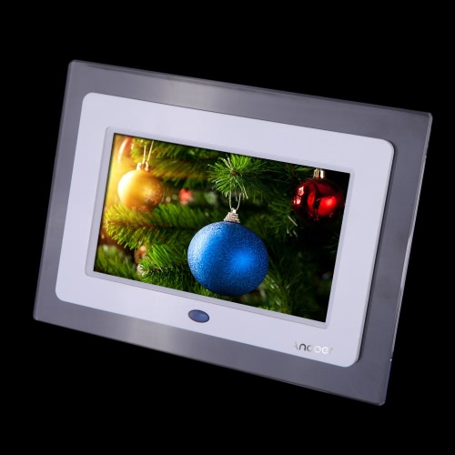 7'' HD TFT-LCD Digital Photo Frame with Slideshow Transparent Frame Clock MP3 MP4 Movie Player with Remote Desktop