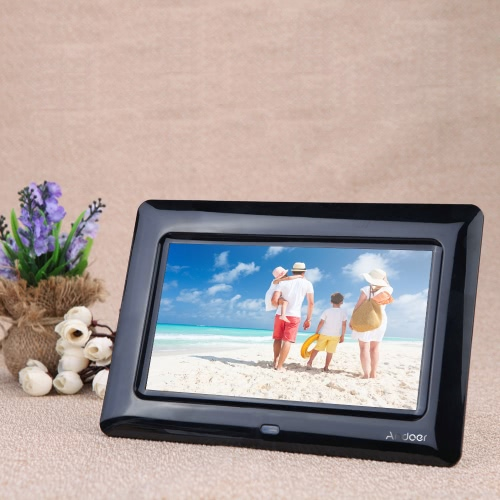7 '' HD TFT-LCD Digital Photo Frame with slajdów Clock MP3 MP4 Movie Player z pulpitem zdalnym