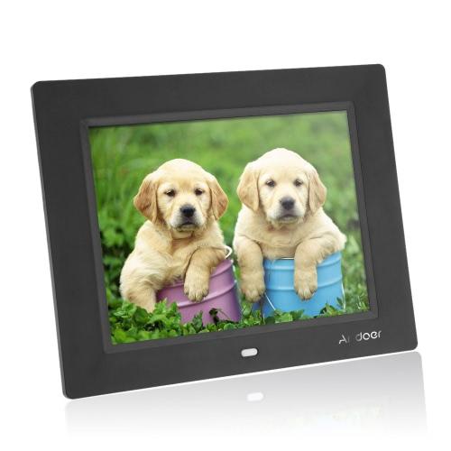8 '' ultracienkich HD TFT-LCD Cyfrowa ramka budzik MP3 MP4 Odtwarzacz filmów z pulpitu zdalnego
