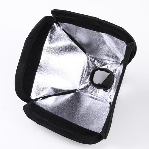 Mini Portable 23 * 23cm / 9 * 9in Photo Studio Softbox Diffuser for Flash Speedlite