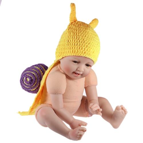 赤ちゃん幼児のカタツムリのかぎ針編みのニット衣装柔らかい愛らしい服写真撮影小道具 0 - 6 ヶ月の新生児