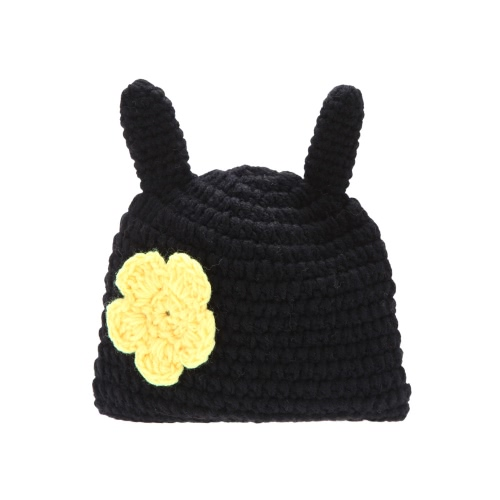 Baby Infant Little Bee Crochet Knitting Costume Soft Adorable Clothes Photo Photography Props for 0-6 Month Newborn