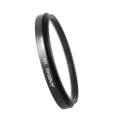 Andoer 49mm UV filtro ultra-violeta protetor de lente para Canon Nikon DSLR câmera