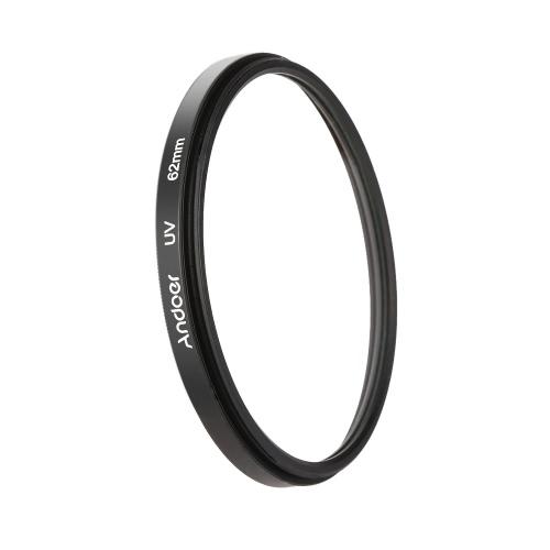 Andoer 62mm UV filtro ultra-violeta protetor de lente para Canon Nikon DSLR câmera