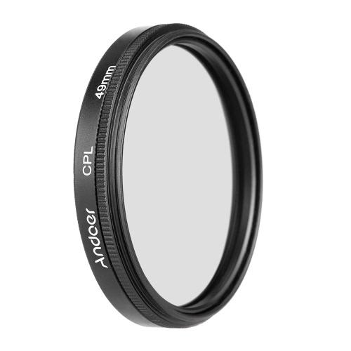 キヤノンニコンソニーデジタル一眼レフカメラレンズ用のAndoer 49mmのデジタルスリムCPL円偏光子偏光ガラスフィルター