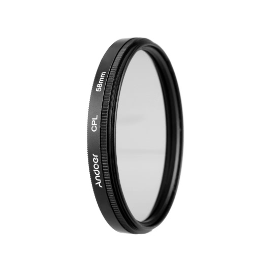 キヤノンニコンソニーデジタル一眼レフカメラレンズ用のAndoer 58mmのデジタルスリムCPL円偏光子偏光ガラスフィルター