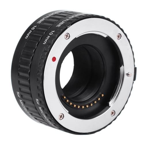 Viltrox Macro AF Auto Focus DG tubo di prolunga 10 millimetri 16 millimetri Set Anello metallo supporto per micro M4 / 3 Fotocamera Olympus E-P1 E-P2 E-PL1 E-PL2 Panasonic G1 GF1