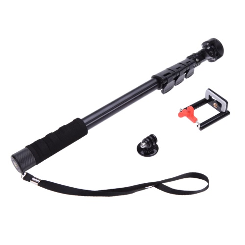 Yunteng C-188 Extendable Handheld Tripod Monopod Adapter Self Held with Phone Clip for iPhone 5S 6 Samsung Huawei Lenovo Nokia Sony BlackBerry Phone DSLR Camera Gopro 1 2 3 3+ 4