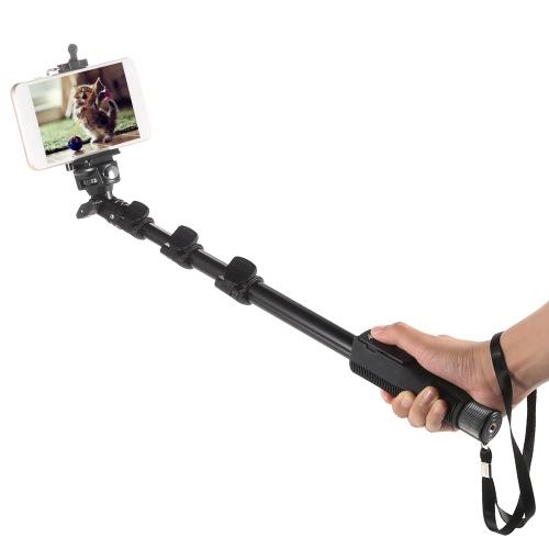 Yunteng YT-1288 Selfie Monopod Extendable Handheld Pole with Shutter Remote Control with Phone Clip Tripod Mount for DSLR Cameras Samsung iPhone Huawei Lenovo Nokia Sony BlackBerry Cellphone GoPro 1 2 3 3+ 4
