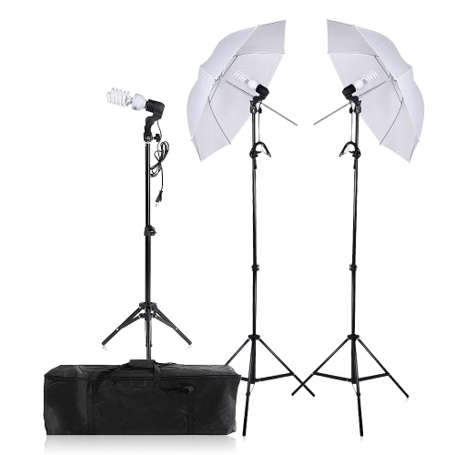 Photography/Video Portrait Umbrella Continuous Triple Lighting Kit