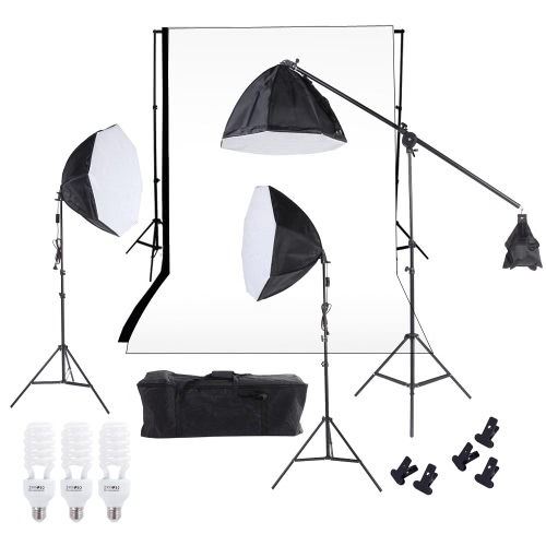 Photographie Éclairage de studio photo lumière Softbox Muslin Backdrop Kit stand