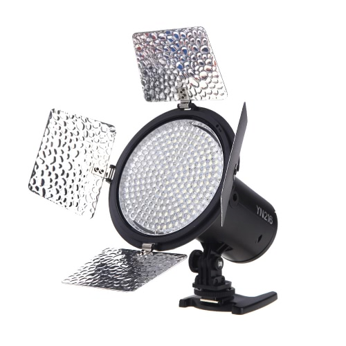 YONGNUO YN216 3200K-5500K LED Video Light Camera Shoot with 4 Color Plates for Canon Nikon DSLR Camera