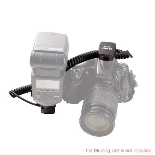Viltrox SC-30 i-TTL Off Camera Shoe Cord with Safe Lock for Nikon DSLR Camera Flash 150cm